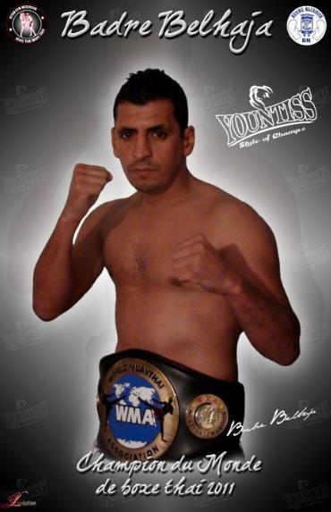 Badre Belhaja, champion du monde de Boxe Thaï 2011,