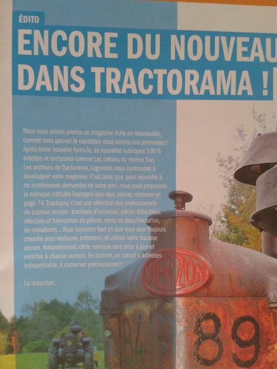Tractorama avril-mai 2013