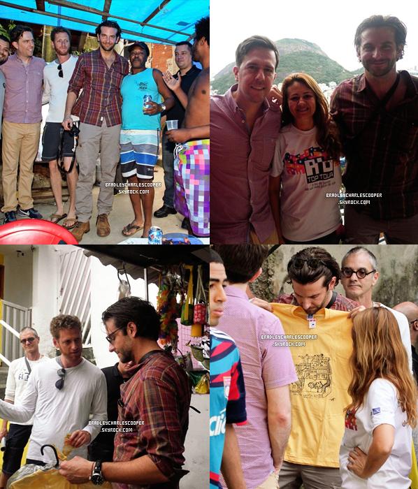 #Candids - 30.05 : Bradley et Ed visitent un quartier défavorisé de Rio