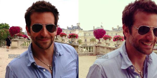 | Candids - 25.08 : Bradley et Suki se détendent dans un parc à Paris