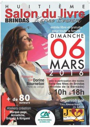 Salon du Livre de Brindas du 6 mars 2016