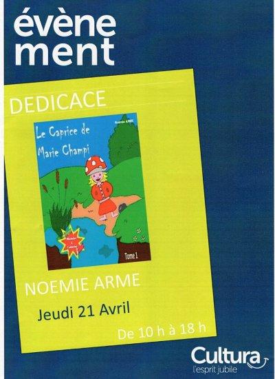 Dédicace au Cultura de Villefranche le 21 avril 2016