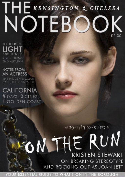 Kristen apparait dans le numéro de septembre du The Notebook Magazine (UK)