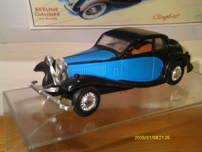 Collection de miniatures Bugatti (10).