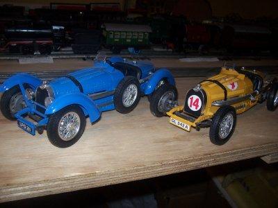 Collection de miniatures Bugatti (18).