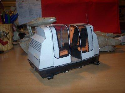 """Ma dernière maquette: L'Aérotrain """"Tridim""""."""