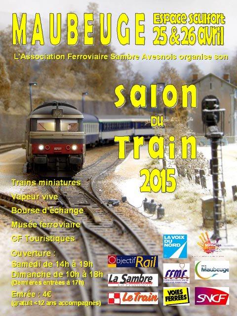 12ème Salon du Train, 25 et 26 avril 2015 à Maubeuge