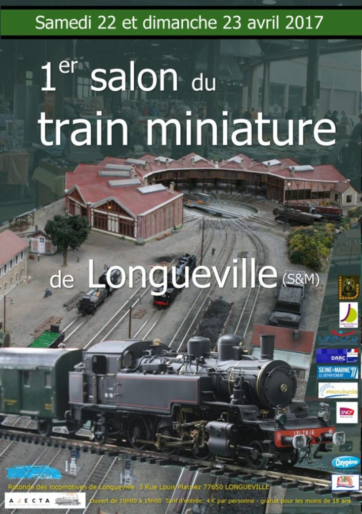 Participation au 1er Salon du train miniature de l'AJECTA à Longueville les 22 et 23 avril