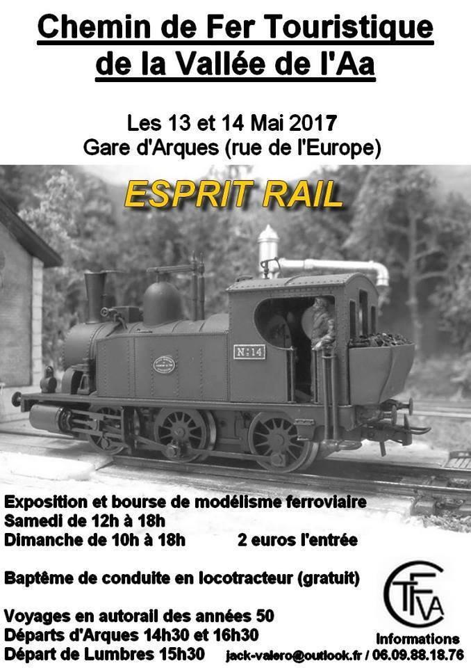 Participation à « Esprit Rail » du CFTVA à Arques les 13 et 14 mai