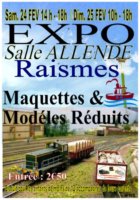 Participation à l'Exposition de modélisme de Raismes, les 24 et 25 février