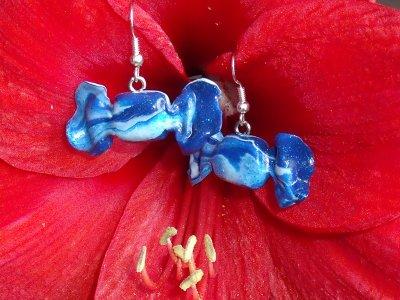 Boucles bonbon bleu ^^