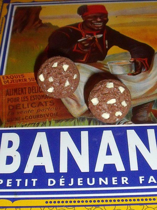 puces muffins chocolat et éclats de cacahuètes