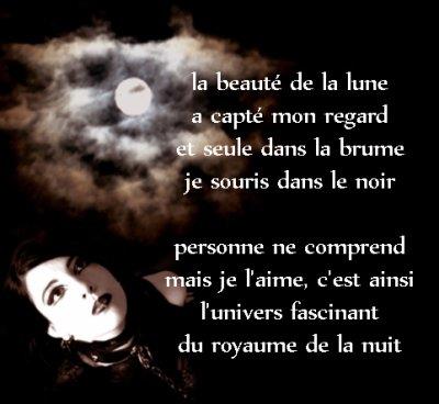 Poeme Goth La Beauté De La Lune Poemes Gothiques Et
