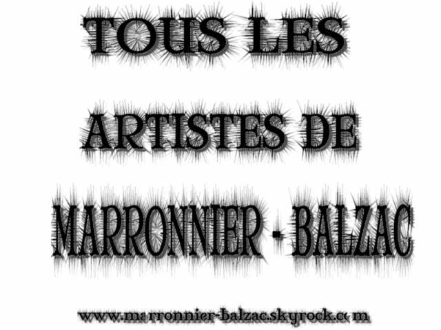 MARRONNIER - BALZAC