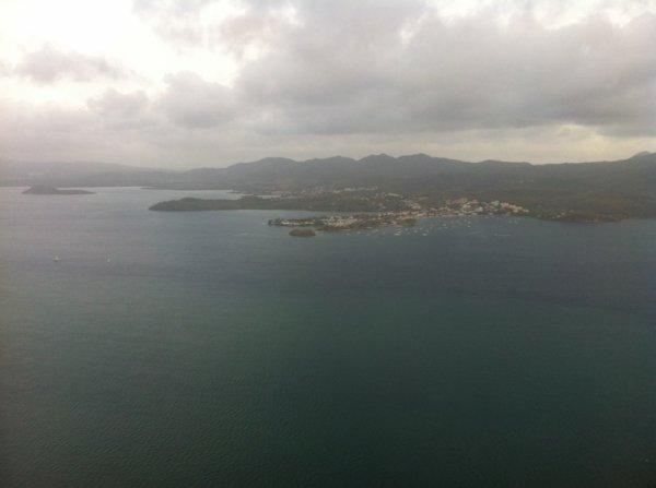Première vue d'une île magnifique qui me manque déjà la Martinique