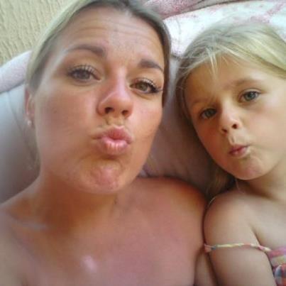 mes  trésors Aline et ma tite Lou et Nathalie