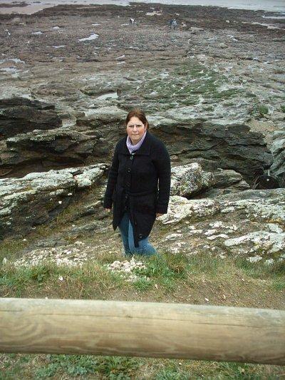 Moi sur les rochers