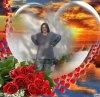 Coeur avec un bouquet