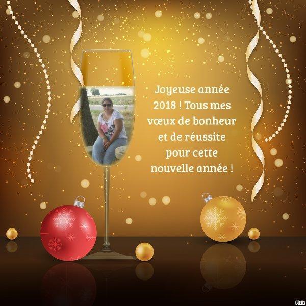 Bonne année avec photo et texte