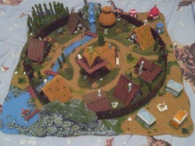 Diorama du village d'Asterix et Obelix