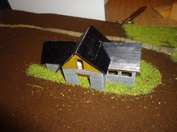 Pose de la toiture de l'etable 2