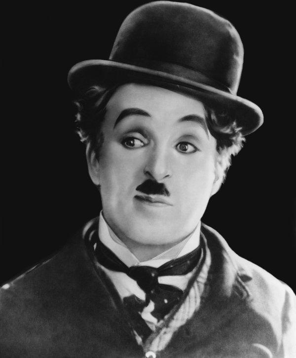 "Marqueterie ""Stars  Americaine "" Chalie Chaplin"