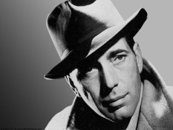 "Marqueterie ""Stars  Americaine "" Humphrey Bogart"