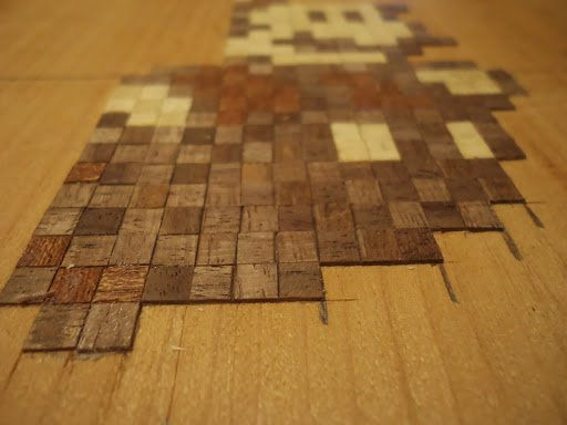 Marqueterie pixel