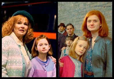 « Harry, pourquoi est-ce que tout le monde te regarde comme ça ? »  « Ne vous inquiètez pas pour ça, dit Ron. C'est à cause de moi, je suis extrèmement célèbre. »