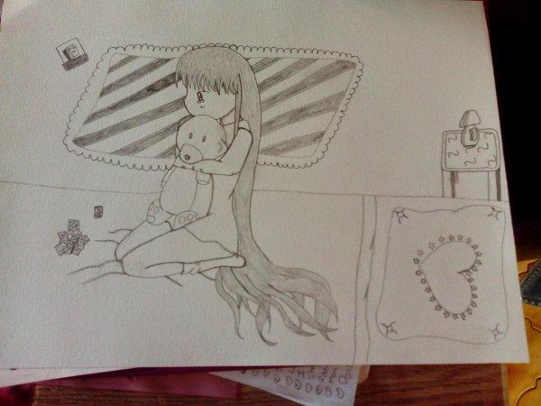 Petite fille nostalgique