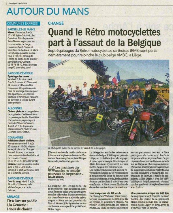 Le Mans <---> Liège 1770 km en ancêtre Moto