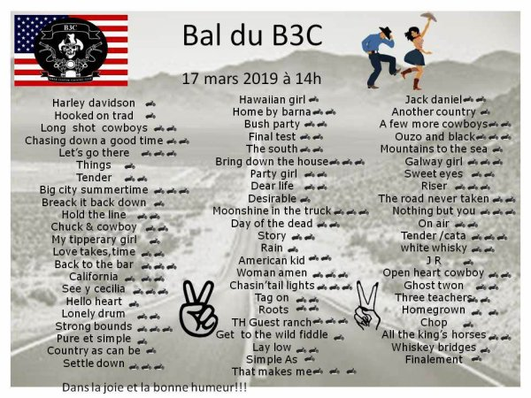 Playlist bal du B3C du 17 /03/2019