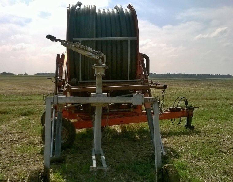 Enrouleur Irrifrance 110/400 à l'irrigation du colza
