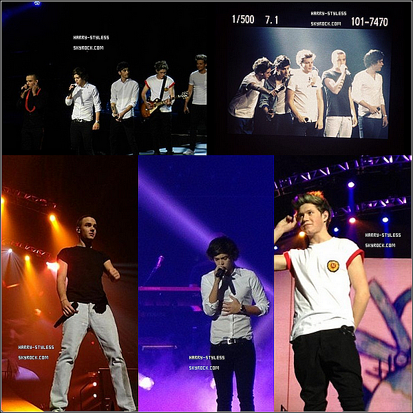 __ 02/12/12 : les One Direction ont donné deux concerts ( le 30 novembre et 1 decembre) au Mohegan Sun dans le Connecticut aux États-Unis..