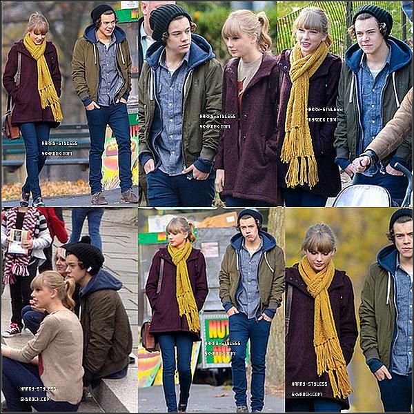 __ 03/12/12 : Harry a été aperçu dans Central Park en compagnie de Taylor Swift, Lux, Lou ( sa maquilleuse) et son mari, Tom.  a New York..