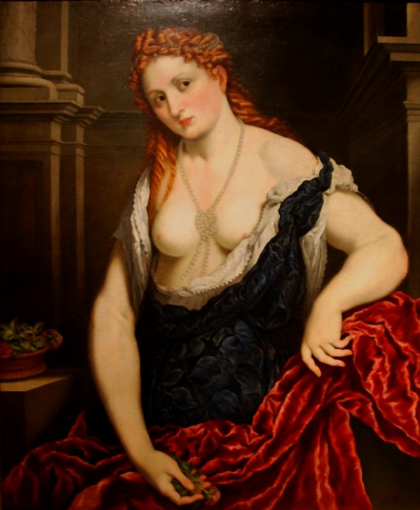 PARIS BORDONE (1495-1570) DAME A LA ROSE