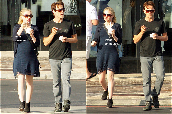 19/06/2012 - Anna, la fille de Stephen Moyer et lui-même sont allés acheter une glace chez Pinkberry.