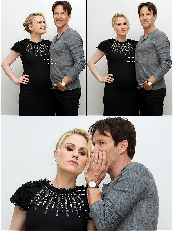 24/06/2012 - Anna et son mari, très complices, étaient présents à une conférence de presse pour TB.