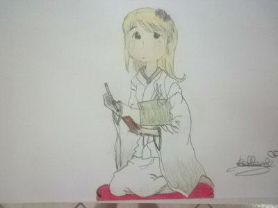 Ana en tenus japonaise