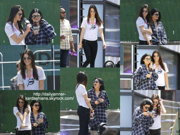 15 juin 2014: Kendall et Kylie ont été vue pendant lrs répétitions des MuchMusic video awards