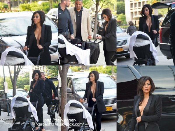 16 juin 2014: Kim a été vue avec sa fille North a lors qu'elles arrivaient à un appartement à New York