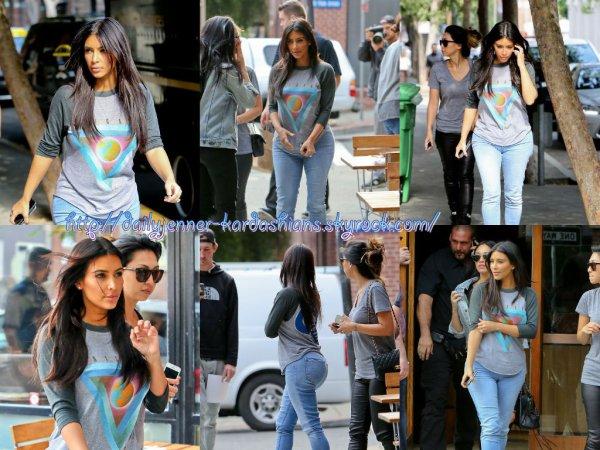 7 août 2014: Kim a été aperçue dans les rues de San Francisco.