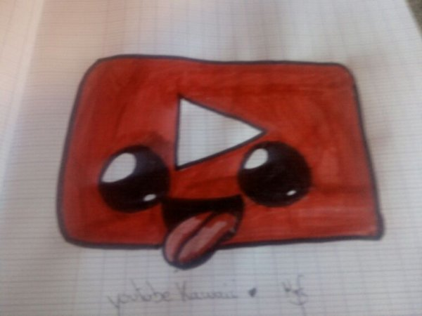 Logo youtube kawaii