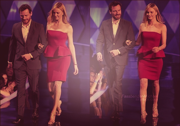 .   ..............RUBRIQUE ▬ Flash back .................Michael et Charlize Theron aux MTV Movie Awards 2012, le 3 juin.   .