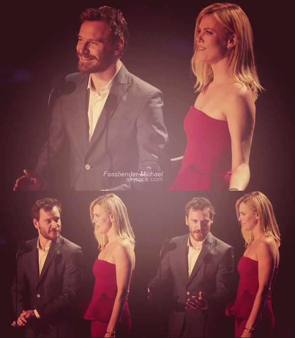 .   ..............RUBRIQUE ▬ Flash back .................Michael et Charlize Theron aux MTV Movie Awards 2012, le 3 juin.   .