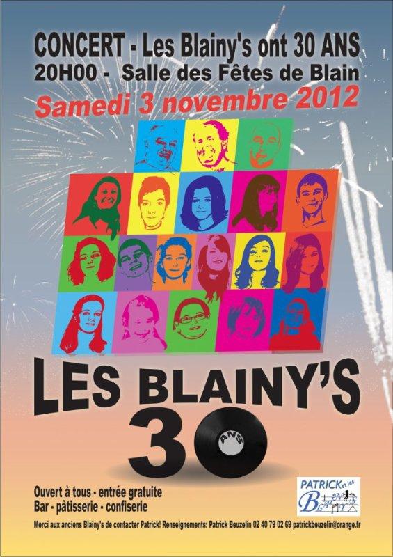Affiche des 30 ans des Blainy's