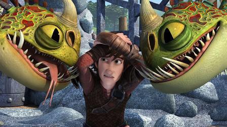 Dragon avec krokmou et Harold et Astrid