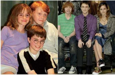 Avant Apres Harry Potter le trio avant/après - harry potter (daniel radcliff)