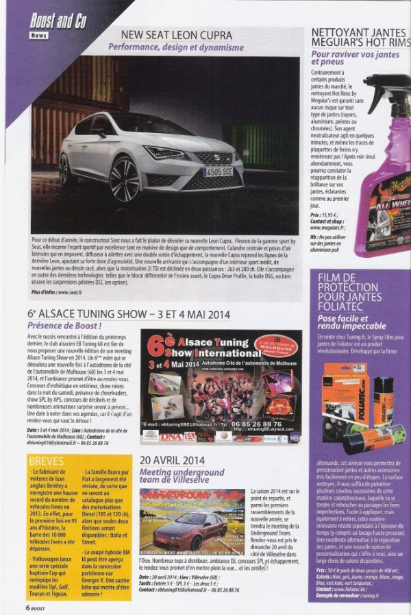 Pub Boost Tuning Magazine Avril Mai 2014