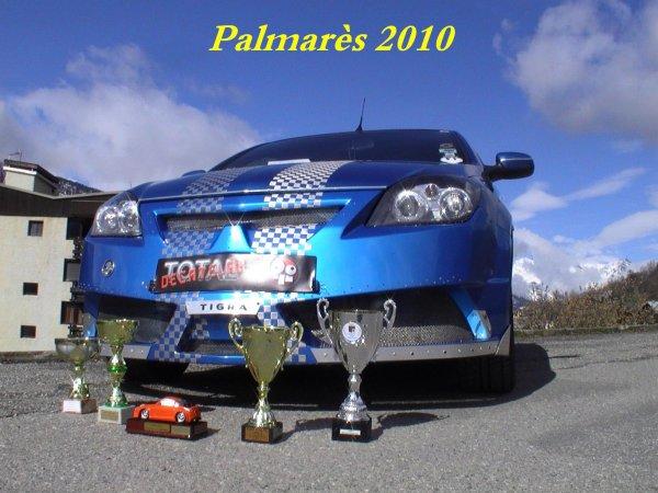 Palmarès 2010, 2011 et 2012